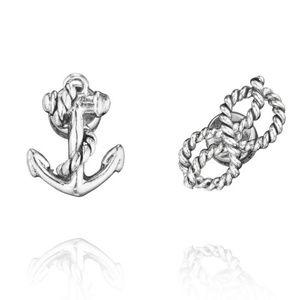Maritime Knot + Anchor Studs